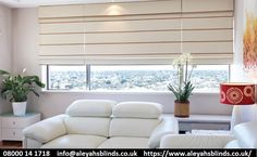 Excellent Photo wide Roman Blinds Tips Roman blinds are a favorite favourite among conscious homeowners as they provide a stylish, stylish and affordable treat Woven Blinds, Faux Wood Blinds, Fabric Blinds, Mini Blinds, House Blinds, House Windows, Blinds For Windows, Window Blinds, Bali