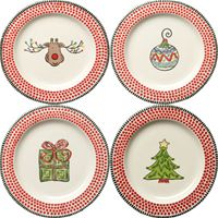 """M. Bagwell's """"Simply Christmas"""" collection. Includes dishes, serving platters, mugs, napkins, table runners. Shoulda registered for Christmas dishes when we got married!"""