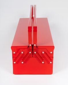 A Refined List of Curated Products Metal Tool Box, Nook And Cranny, Simply Red, Keep It Simple, Tool Storage, Cool Tools, Industrial Design, Stationery, Objects