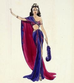 SAMSON AND DELILAH -  This opulent Cecil B. DeMille epic from 1949 allowed Edith Head to concoct an array of Oscar-winning biblical designs including this exotic outfit for Hedy Lamarr.