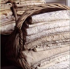 Basket of linens from Bountiful, Venice Beach, CA