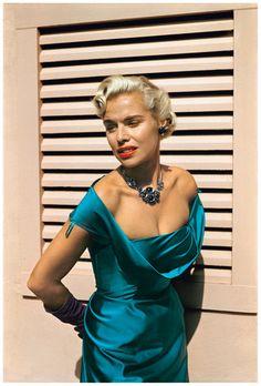 Woman with Turquoise Dress, Laguna Beach, California, c. 1952