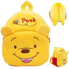 Just imagine your lil ones wearing a Winnie The Pooh bag - Suitable for children 1-3 years old - While Supplies Last! Item Type: Backpack Main Material: Soft plush Closure Type: Zipper Size: 23*21cm I