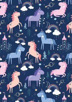 Genine Delahaye is a freelance children's illustrator & print designer based in Kent, UK. K Wallpaper, Wallpaper Iphone Cute, Flower Wallpaper, Pattern Wallpaper, Wallpaper Backgrounds, Unicorns Wallpaper, Iphone Wallpaper Unicorn, Unicorn Art, Cute Unicorn