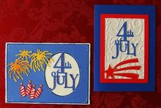 4th of July Card Idea using Stand and Salute and the Cricut