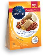 Bon Appétit™ Pork in Chipotle BBQ Sauce  --  I like good food.    And these are the best frozen meals I have ever had!   Going to try more...