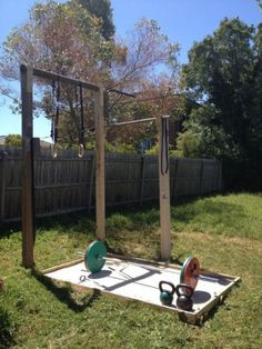 Backyard gym is getting very close to complete - just need some rubber mats for dropping the weight safely a plyo box and some 20kg plates would be good too #SittingisthenewSmoking #SittingisthenewSmoking Garden Gym Ideas, Crossfit Home Gym, Backyard Gym, Backyard Ideas, Home Exterior Makeover, Outdoor Gym, Best Home Gym, Photo Tree, Cool House Designs