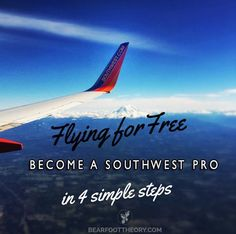 How to score free flights on Southwest in 4 simple steps Don't waste your money on airfare. Airline Travel, New Travel, Family Travel, Travel Plane, Cheap Travel, Budget Travel, Travel Tips, Travel Destinations, Travel Hacks