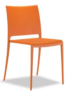 """""""Joi Contemporary Stack Chair"""". A one piece moulded seat ..."""