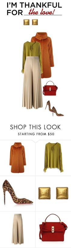 """""""I'm thankful for love!"""" by perlarara ❤ liked on Polyvore featuring MaxMara, Chicwish, Christian Louboutin, Gurhan, Givenchy, Henri Bendel and imthankfulfor"""
