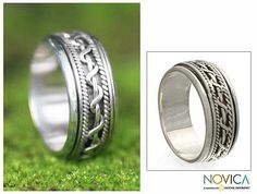 Sterling Silver Band Ring - Silver Knots | NOVICA