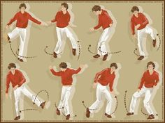 """Diagram of dance moves from Kings of Convenience """"I'd rather dance with you"""" video"""