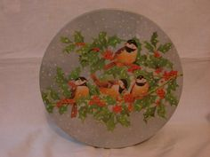 Vintage Christmas Holiday Cookie Candy Tin with Winter by msannieb