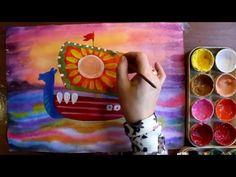 Как нарисовать парусник гуашью поэтапно. Видео уроки рисования красками ...