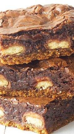 Loaded Twix Chocolate Brownie Bars