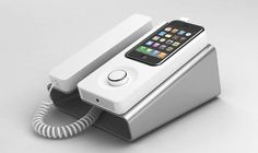 Desk Phone Dock: Charges and syncs your iPhone and functions as a speakerphone. Brand new yet so old school.