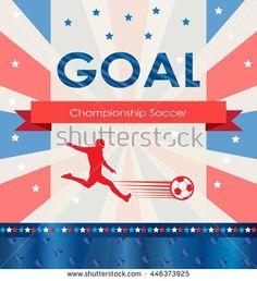 Goal. Goal background. World 2016 Abstract soccer goal illustration. Championship soccer player. Football goal icon. Goal soccer card. Goal logo. American 2016 Football vector for Art, Print, Web.
