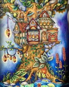 Richness Of Color Choices Picas Treehouse Ivy And The Inky Butterfly Johanna Basford Colored By