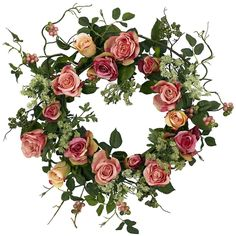 Rose Artificial Silk Wreath | 20 inches