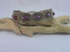 bracelet micro macramé antique brown : Bracelet par les-creations-du-sud