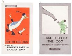 Vintage London Zoo posters