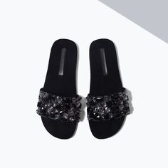 JEWEL SLIP-ON SANDALS-View all-Shoes-WOMAN-SALE | ZARA United States