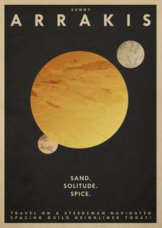 Arrakis Travel Poster