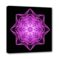 Canvas print fractal Stardust magenta - also for sale on www.etsy.com/shop/droomcreaties