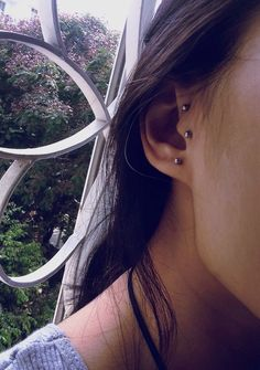 Surface tragus piercing <3  Cute but its hurt