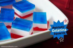 Patriotic Gelatin Squares #WhatsYourID