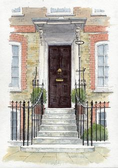 Grand Doorway - sketch - John Edwards
