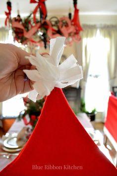 Her Santa-inspired idea took just a few pieces of felt but it's brilliant!