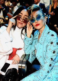 """mileycyrusdaily: """"""""Miley and Noah at the 2017 MTV Video Music Awards on August 27, 2017 in Inglewood, California. """" """""""