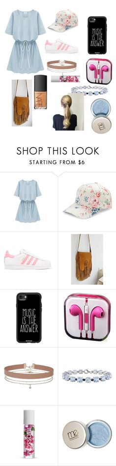"""""""sparkle and shine"""" by sarai-olivia ❤ liked on Polyvore featuring beauty, BCBGeneration, adidas Originals, Casetify, Miss Selfridge, Miadora, Forever 21 and NARS Cosmetics"""