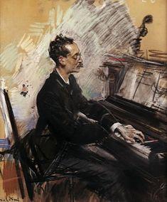 The Pianist A. Rey Colaco ~ Giovanni Boldini ~ (1842-1931)