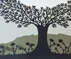 NEW Ecoconscious Papercut Ketubah  Tree of Life  by lovebyleya, $275.00