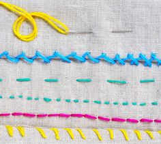 We've rounded up six common stitches that can be used on a myriad of projects for home decor, complete with step-by-step photo tutorials.
