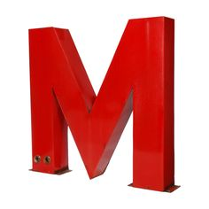 1stdibs.com | Very Large Porcelain Letter M from a Neon Sign