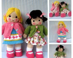 DOLLY ROSE and tiny doll knitting pattern Pdf von dollytime