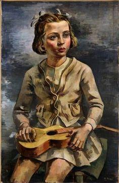 Girl with a guitar, 1938 by Antonio Berni Matisse, Social Realism, Gauguin, Art Database, Interesting Faces, Artist Names, Vincent Van Gogh, Great Artists, Female Art