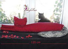 Zugluftstopper Katze Deko Katze ' Valentina'  von Fatafelina auf DaWanda.com