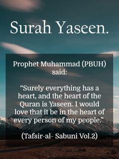 "Benefits of the Recitation of ""Surah Yaseen"" Prophet Muhammad Quotes, Hadith Quotes, Allah Quotes, Muslim Quotes, Quran Quotes Inspirational, Quran Quotes Love, Beautiful Islamic Quotes, Inspiring Quotes, Ramadan"