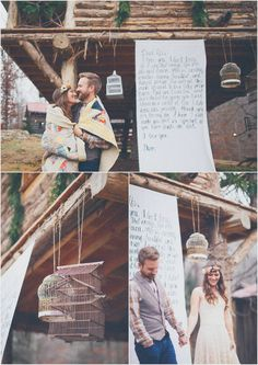 Quilts, her flower crown, everything about these engagement photos