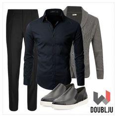 Mens Long Sleeve Gold Button Dress Shirts #doublju #doubljumen #fashion #mensstyle  #fallstyle #spring #summer #fall #dailylook