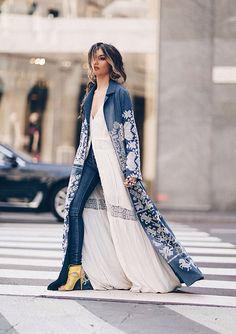 Processed with VSCO with preset Abaya Fashion, Kimono Fashion, Denim Fashion, Modest Fashion, Indian Fashion, Boho Fashion, Autumn Fashion, Fashion Dresses, Womens Fashion