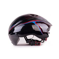 [Visit to Buy] Toptotn With Goggles Glasses Mtb Bike Cycling Helmet Bicicleta Capacete Casco Ciclismo Para Ultralight Lens Bicycle Helmets  #Advertisement