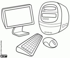 1 computer coloring pages for kids Computer Coloring Pages