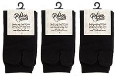 VToe Tabi Flip Flop Two Toe Socks  Black Solid Socks For Sandals And Flip Flops *** You can get more details by clicking on the image.