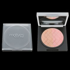 Motives® Blush Bronzer Duo - Minimizes the look of imperfections and visible pores instantly, giving the skin a radiant glow. Designed for all skin types with a non-irritating, paraben-, oil- and fragrance-free formula. My Beauty, Beauty Makeup, Makeup Blush, Beauty Tips, Perth, Laura Wood, Cosmetics Market, Face Contouring, Bronzer