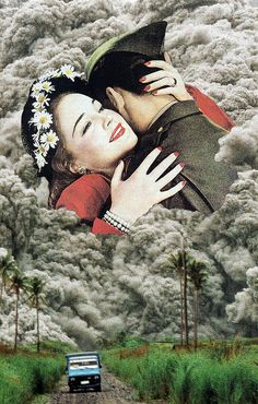 Eruption Hotter than Fire, Burning with Lustful Desire (Collage Art)